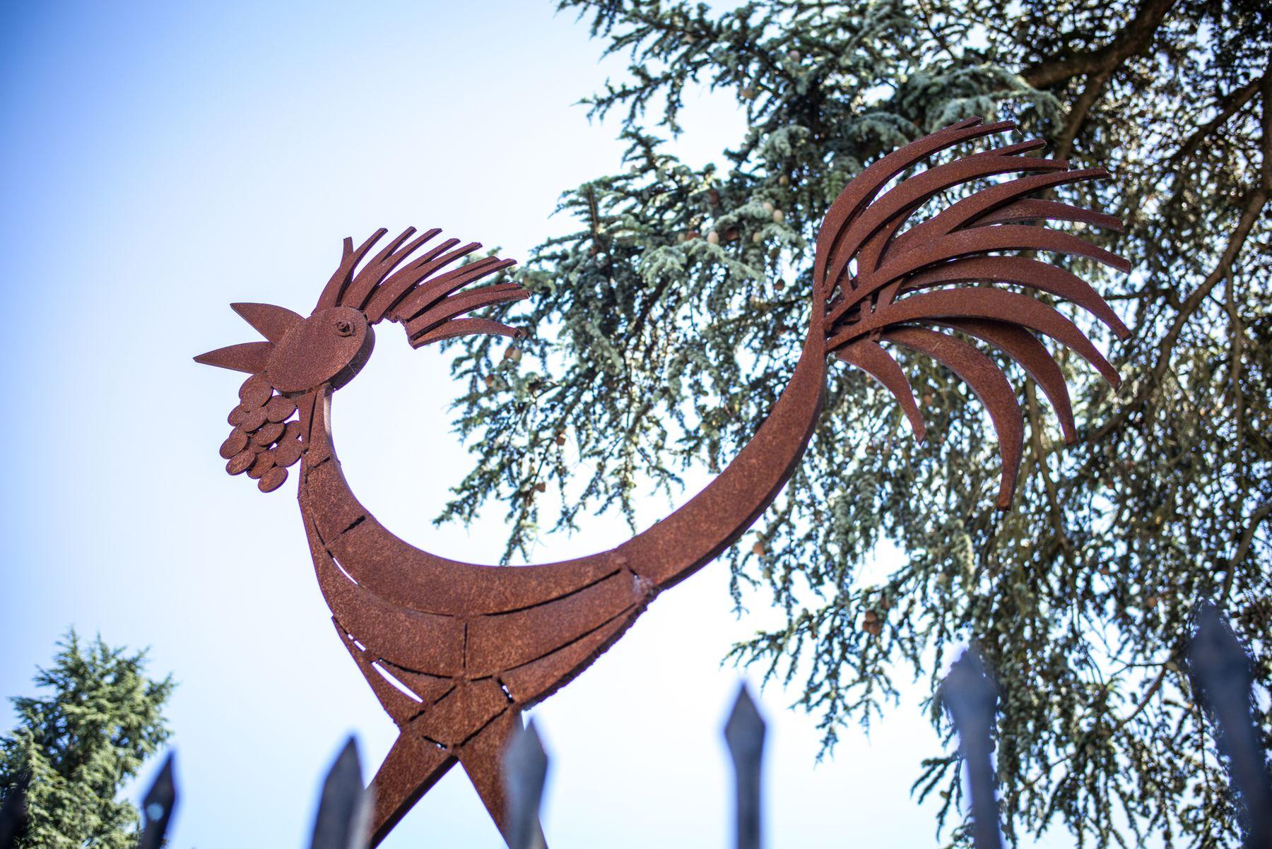 Le coq - sculpture offerte par la ville de Fossalata du Portogruaro