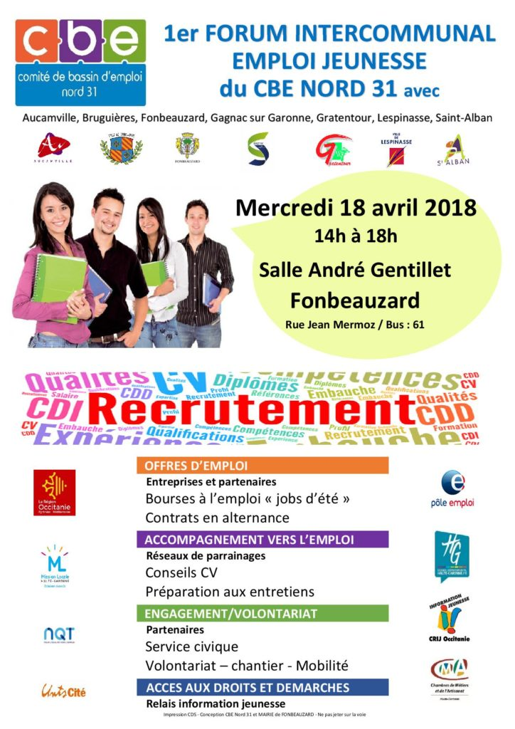 1er forum intercommunal emploi-jeunesse