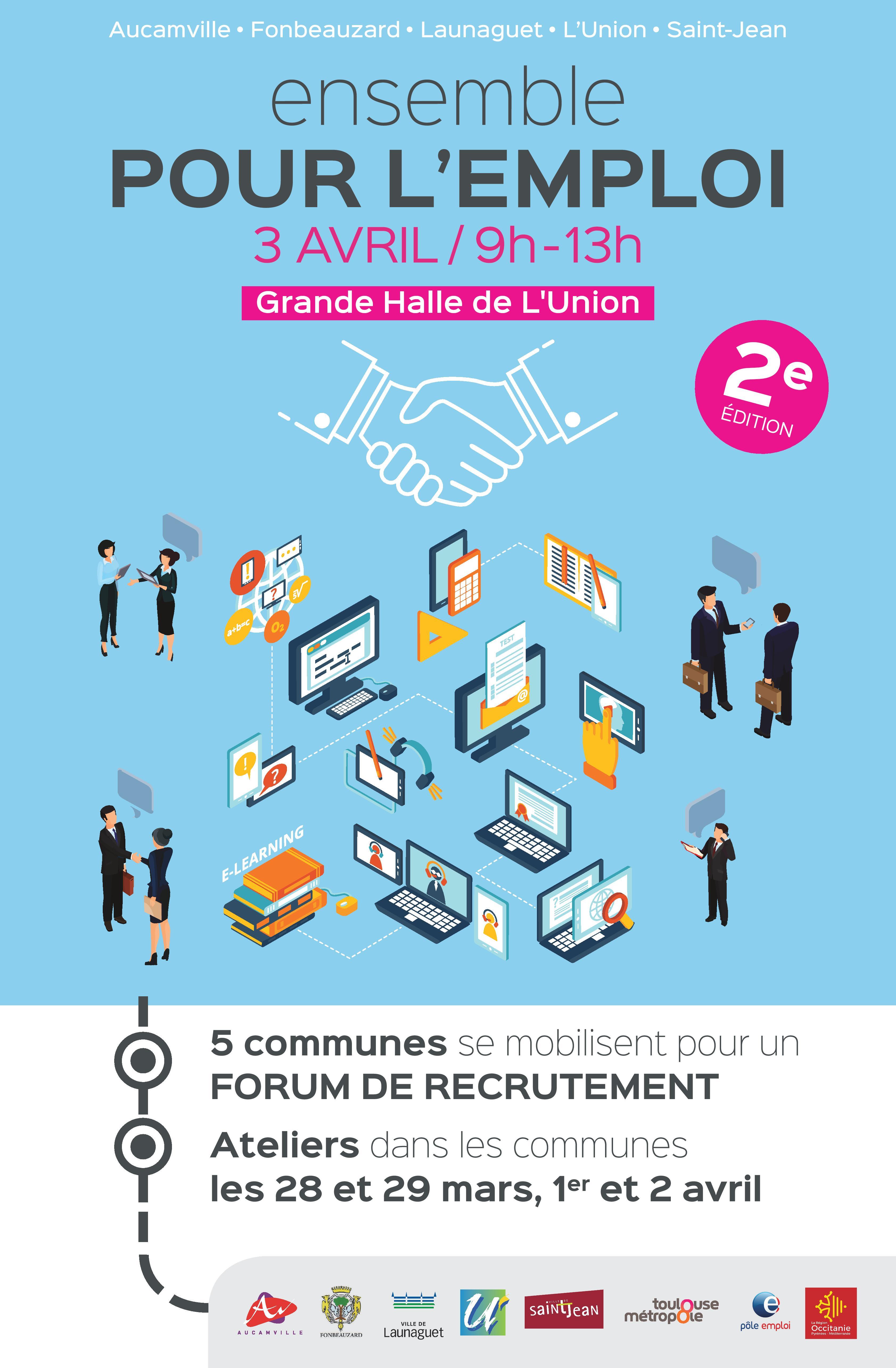 """Forum pour l'emploi """"Ensemble pour l'emploi"""""""